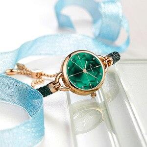 Image 2 - Kimio simples mulher pulseira relógio senhoras diamante cristal banda relógios de quartzo moda luxo à prova dwristwatch água relógio de pulso 2019 novo