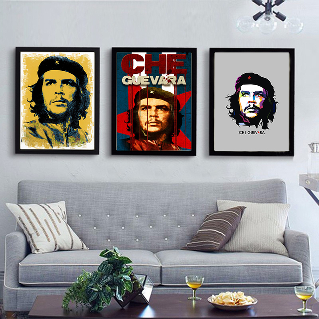 Portrait Oil Painting Che Guevara Wall painting Home Decorative Wall Art Print Poster For Living Room Decor No Frame