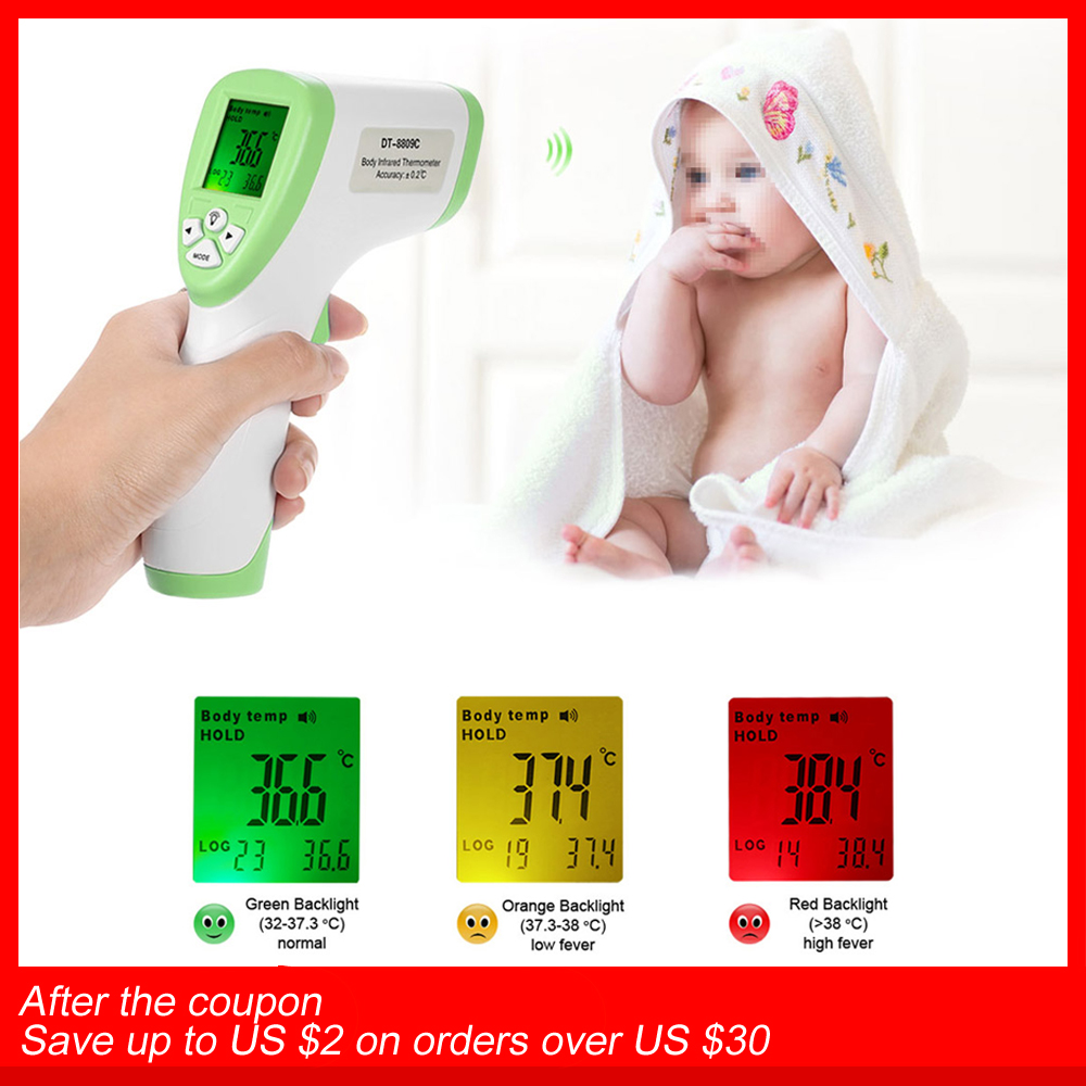 Digitale IR Infrarot Thermometer Stirn Körper Oberfläche termometro digitale Temperatur Meter Pyrometer Messung Daten Halten Func
