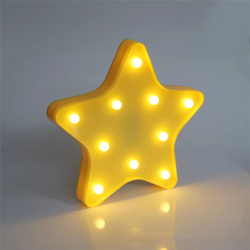 4 Style Starfish Shaped LED Night Light Table Desk Light Lamps Indoor Kids Room Bedroom Home