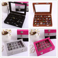 24 Grid Earrings Showcase Container With Colorful Cover 2016 New High-end Silver Pendant Jewelry Earrings Storage 15.3x22x5cm