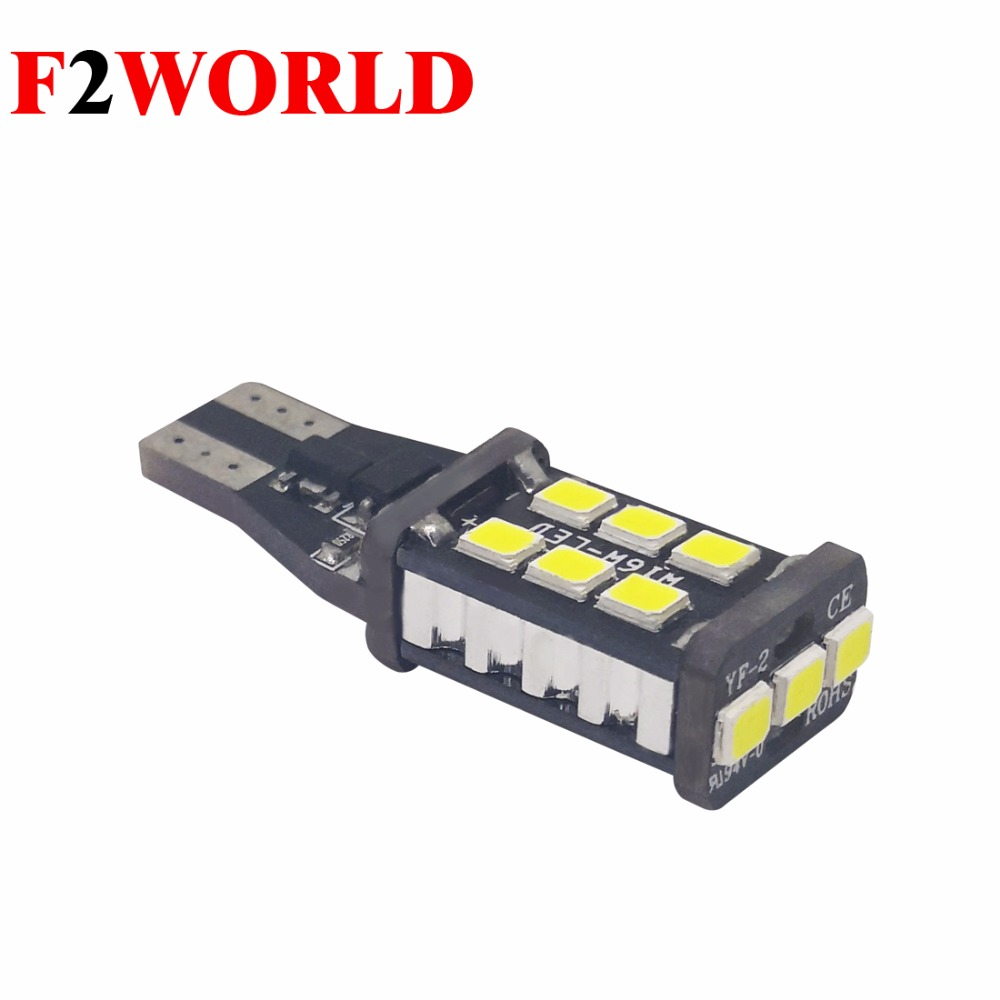 2 PCS *<font><b>Car</b></font> <font><b>LED</b></font> Canbus White <font><b>T15</b></font> <font><b>LED</b></font> Reverse Light W16W 15SMD Back Up Light Rear <font><b>Lamp</b></font> T10 <font><b>T15</b></font> W16 <font><b>LED</b></font> BULB reading light <font><b>T15</b></font> <font><b>LED</b></font> image