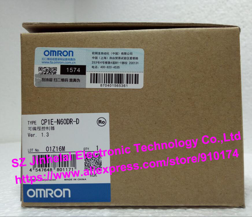 100% New and original CP1E-N60DR-D  OMRON PLC CONTROLLER cp1e n40dr d new and original omron plc controller
