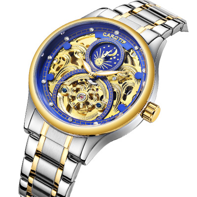 Luxury Skeleton Men Watches Reloj Hombre Full Steel Mechanical Watch Men Dress Business Male Watch Gold Watch erkek kol saatiLuxury Skeleton Men Watches Reloj Hombre Full Steel Mechanical Watch Men Dress Business Male Watch Gold Watch erkek kol saati