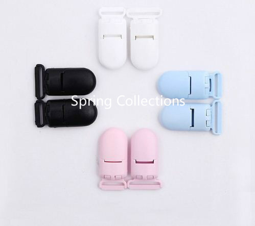 30pcs 42*25mm 10pcs Multi-function baby Plastic Clips Soother Dummy Holder POM Plastic Clamp Suspender Clip Garment Accessories