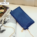 Upscale Crocodile Pattern Women Messenger Bags 2016 Patent Leather Small Chains Crossbody Shoulder Bags Women Evening Bag Casual
