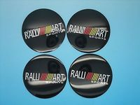 2015 HOT 4pcs Wheel Center Hub Caps Emblem Stickers Decals For RALLIART Mitsubishi 56mm Free Shipping