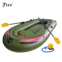 цены High Quality Inflatable Fishing Boat 1 2 3 Person Thick PVC Rubber Fishing Boats with Patching Kit for Lake Pond Boat Fishing