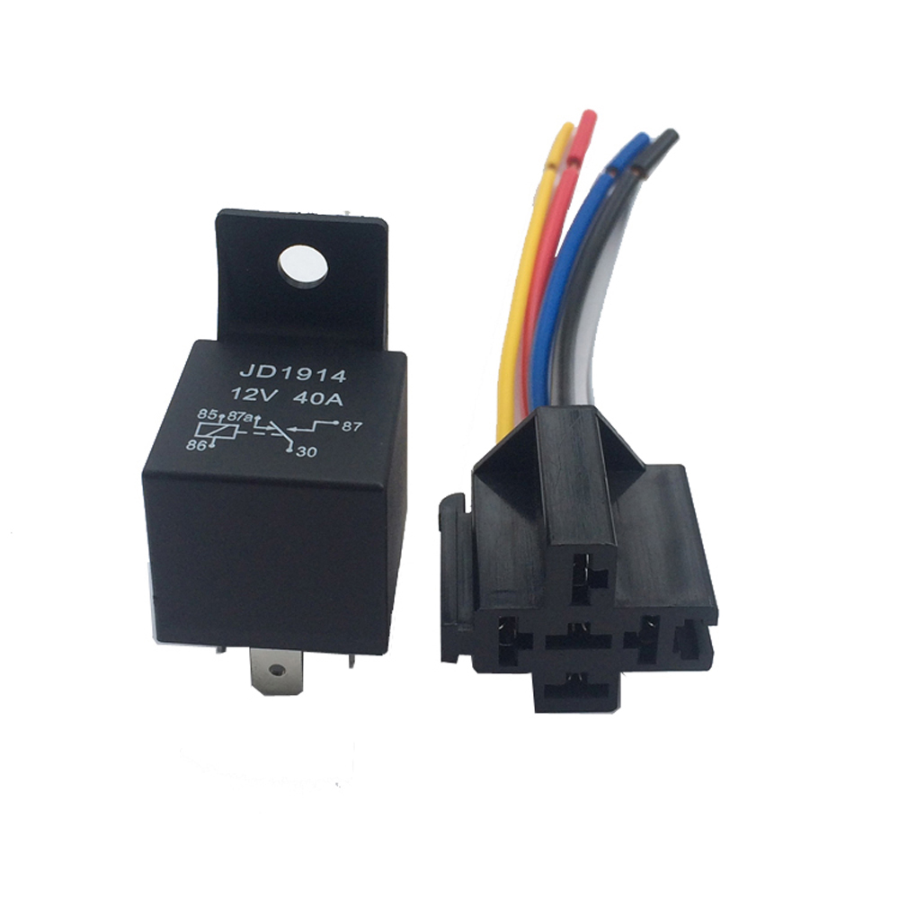 aliexpress com buy 12v 40a amp 5 spdt car truck auto automobile page features 5 pieces 5pin 12v 40a spdt relay with socket and wiring [ 1000 x 1000 Pixel ]