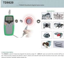 164ccb873ab TD8620 Permanente Ímã Tesla Gauss Medidor Handheld Digital Medidor de Teste  de Medidor de Fluxo Magnético do Campo Magnético da .