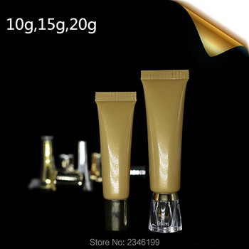 10ML/15ML/20ML 100pcs/Lot,Gold Cosmetic Soft Tube BB CC Container Eye Cream Hand Cream Essence Ointment Empty Packing Tube