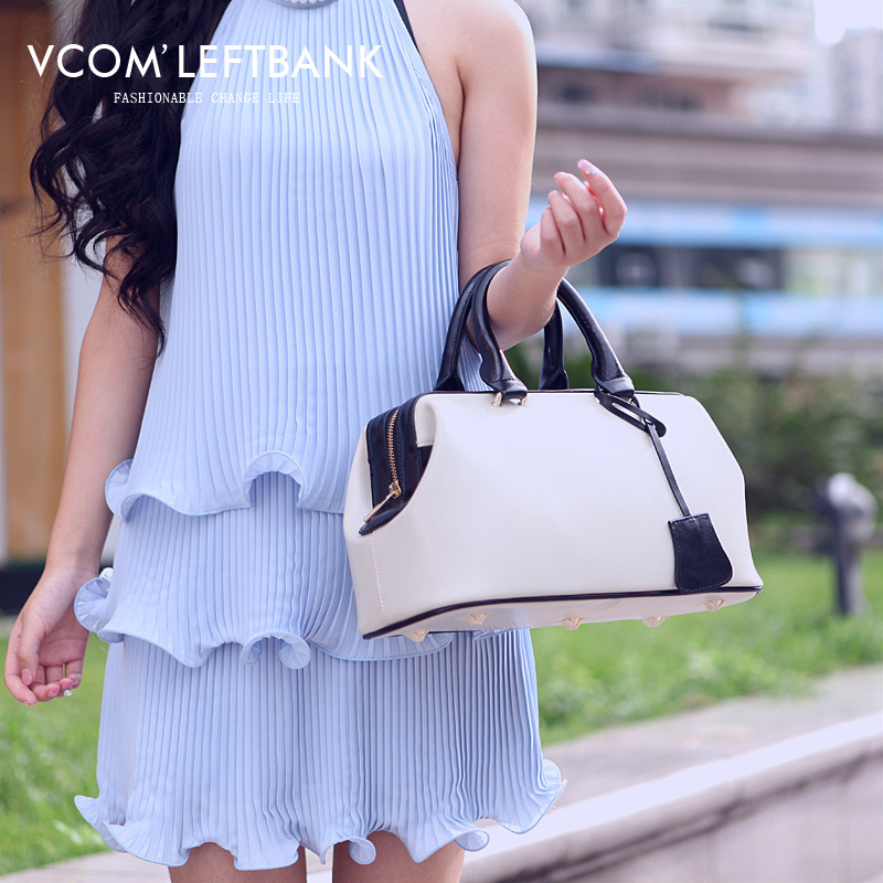 Vintage Fashion Classic Doctor bag Genuine leather bag Brand designer women Totes High quality ladies Real Cow leather Handbags