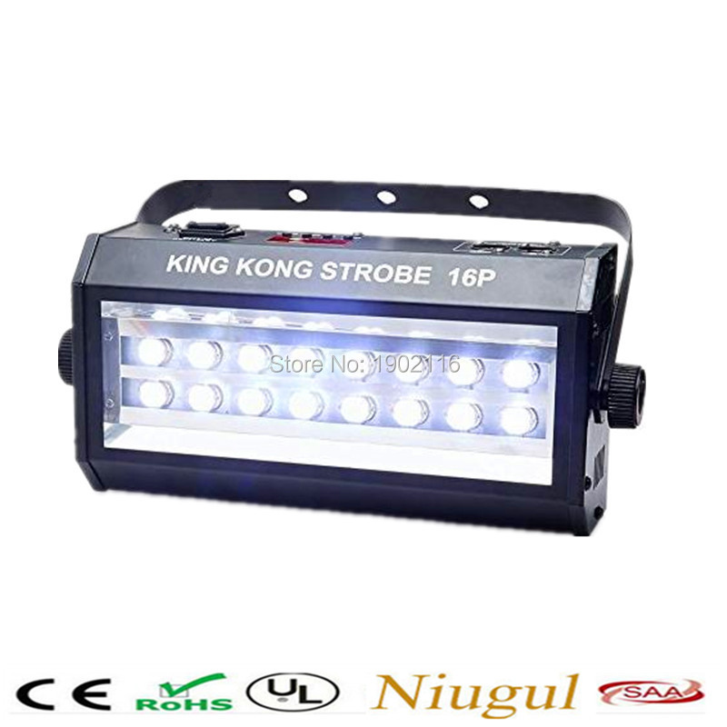 DHL/Fedex Free shipping DMX Vocie control 16 LED 400W Strobe Lamp Party Disco DJ Bar club Light Stage Lighting led Flash lights цена и фото