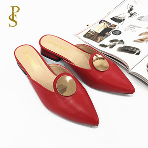 Image 5 - Ladys slippers with pointed toes Square   heeled womens summer slippers