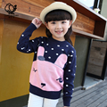 2016 new children's autumn and winter clothing thickening cartoon sweater child basic shirt  child pullover sweater outerwear