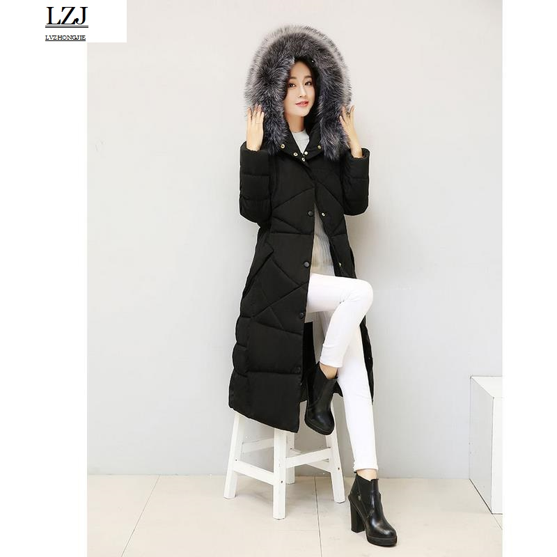 LZJ Warm Jacket And Coat For Women  New Winter Collection 2016 High Quality Female Warm Parka Collar From Sable thick hood size sadat khattab usama abdul raouf and tsutomu kodaki bio ethanol for future from woody biomass