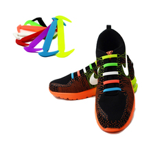 12Pc Set Running No Tie Shoelaces Fashion Unisex Women Men Athletic Elastic Silicone Shoe Lace All