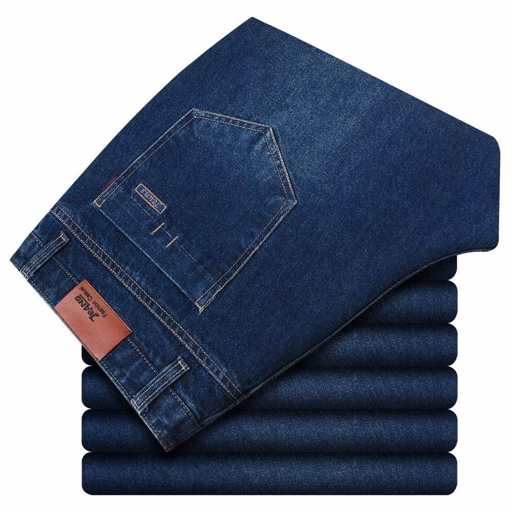 52 48 46 44 42 9xl 8xl 7xl 6xl 5xl Men Slim Casual Pants Elastic Men`s Jeans Light Blue Quality Cotton Denim Brand Jeans For Men At Any Cost