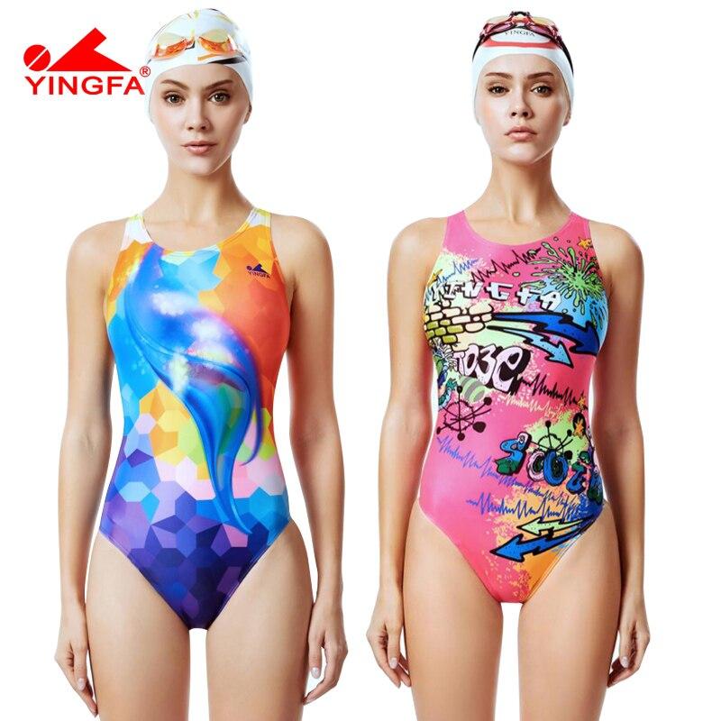 f01f0e2cf624 Yingfa 2019 nuevo traje de baño de natación competitivo para niñas, trajes  de baño de ...