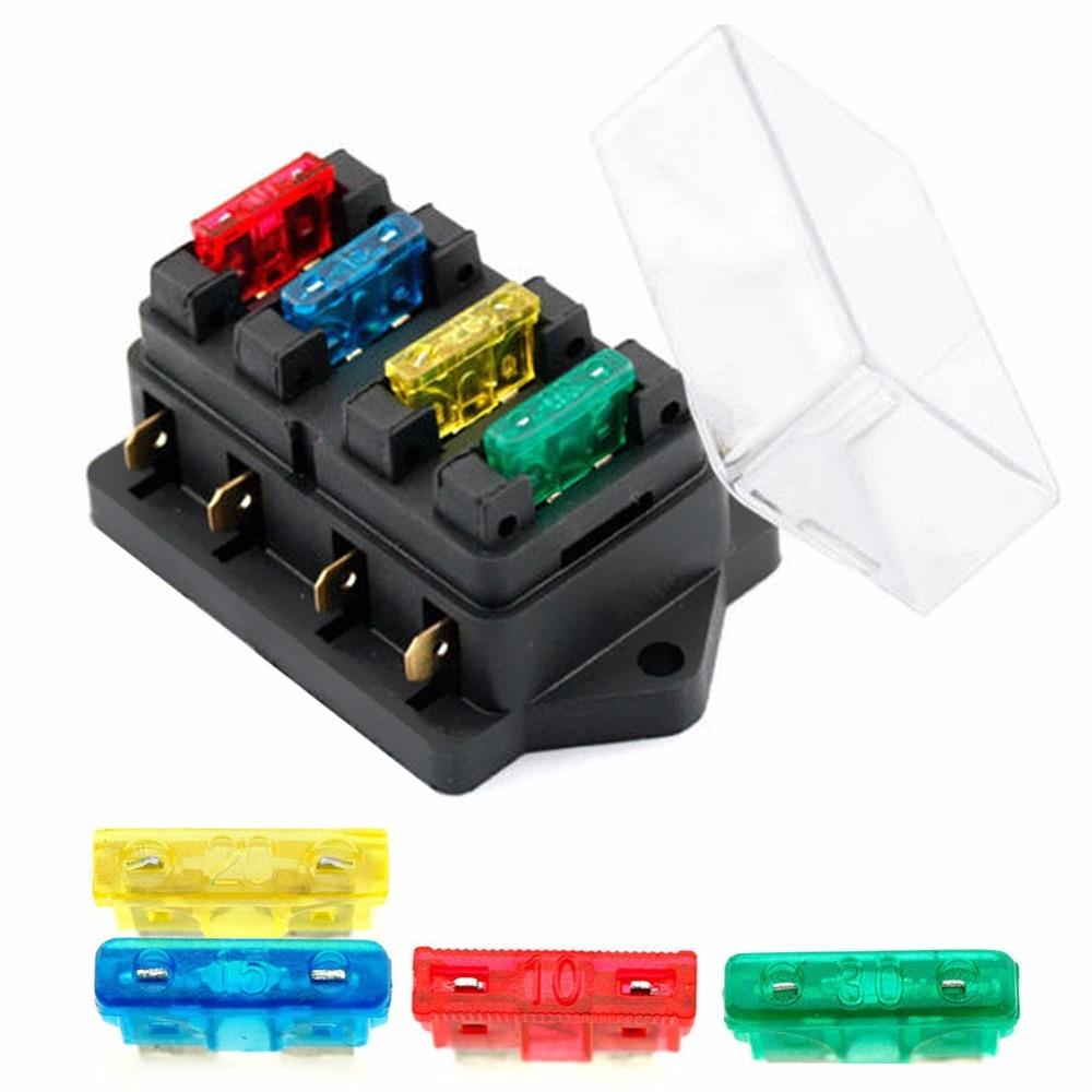 12v 24v 4 way car truck auto blade fuse box holder circuit rh sites google com