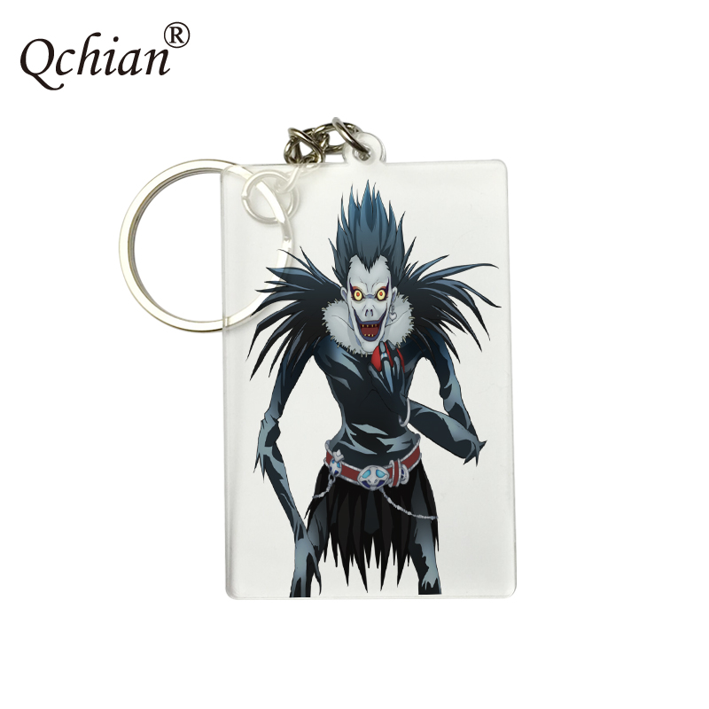 New Death Note HD PNG Format Picture Printed Keychain Transparent Acrylic Decorative Pendant Logo Customization