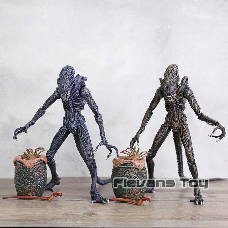 Ailens 8 Pcs/set Alien Telur Facehuggers Chestburster PVC Action Figure Set Collectible Figurine Mainan