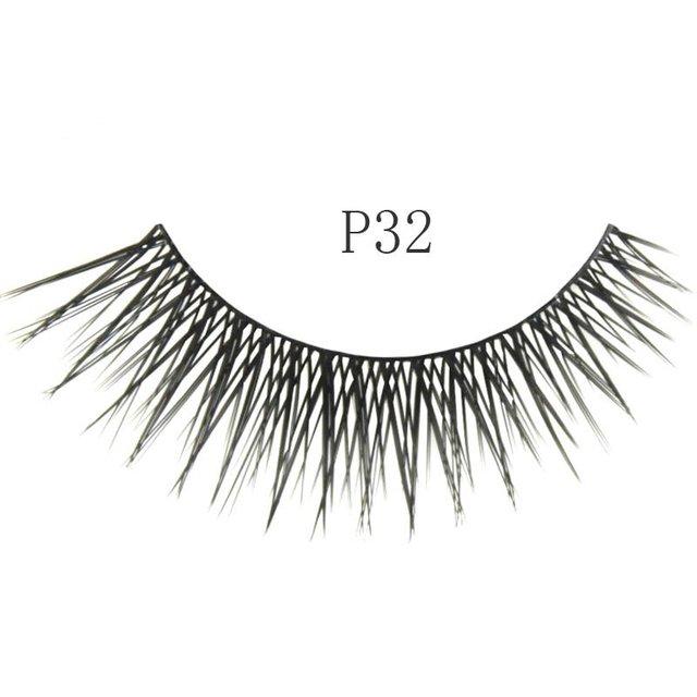 Free shipping,32box/lot [mixed style] high quality factory direct marketing,hand made (10 pairs/box)cosmetic eyelash(P32)