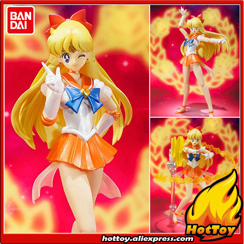Original BANDAI Tamashii Nations S.H.Figuarts (SHF) Exclusive Action Figure - Super Sailor Venus from