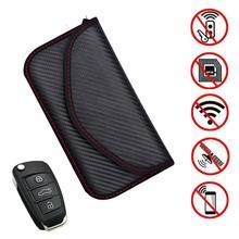 RF RFID Signal Blocking Bag Cover Signal Blocker Case For Keyless Car Keys Radiation Protection Cell Phone недорого