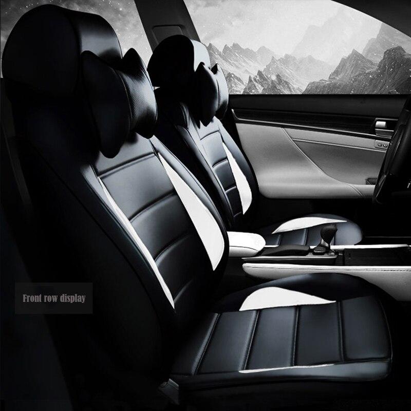 Пользовательские кожаные чехлы для сидений автомобиля для Volkswagen все модели vw passat b5 6 polo golf tiguan jetta touran touareg автомобильные аксессуары