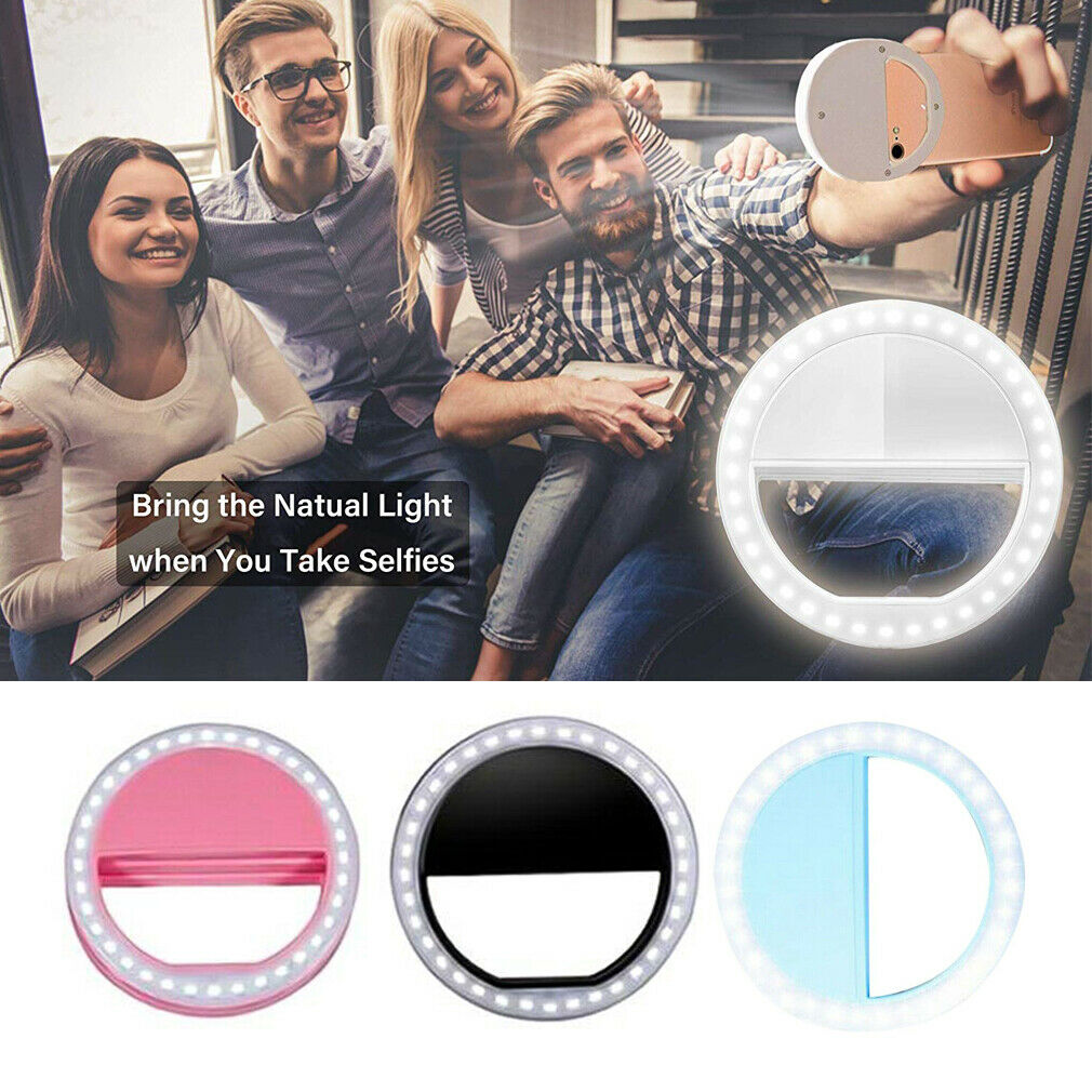 Rechargeable Selfie Portable LED Ring Fill Light Camera  Party Camping Mobile Phone Light Filling Tool