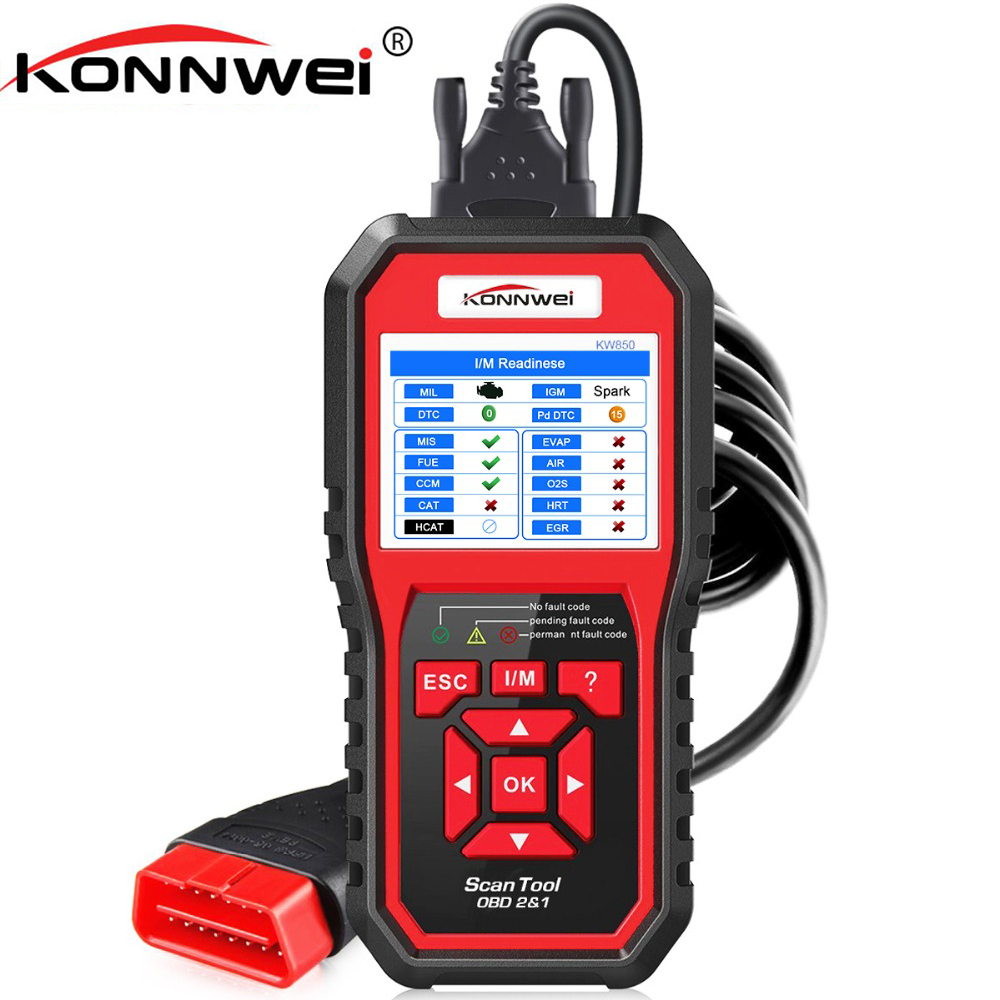 KONNWEI OBD2 Automotive Scanner OBD 2 Auto Diagnostic Scanner Engine Fault Error Code Reader ODB2 Diagnostic Scan Tool for Car 2017 latest konnwei diagnostic code reader car fault auto scanner tool kw830 obdii eobd car detector automotive tool