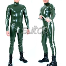 Suitop Macho man latex bodysuit catsuit sexy rubber latex codepiece