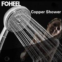 FOHEEL Brass Shower Hand Held Shower Head High Pressure Shower Head Water Saving Shower Heads For Bathroom Accessories