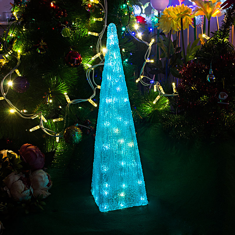 Turquoise Christmas Lights.7 Colours Auto Flashing Festival Led Tower Light 51cm Tall Christmas Lights Wedding Decoration Lighting Festival Party Light