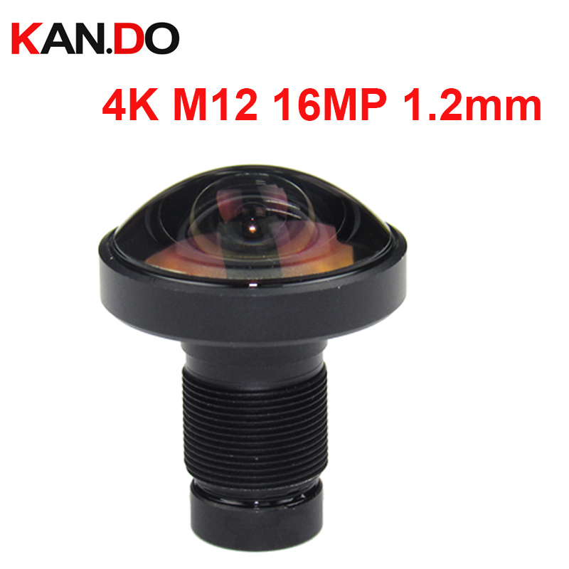 4K m12 lens 16MP 1.2mm 4K Lens 220 degree Super Wide Viewing Fisheye Action Sport Camera lens 1/2.3