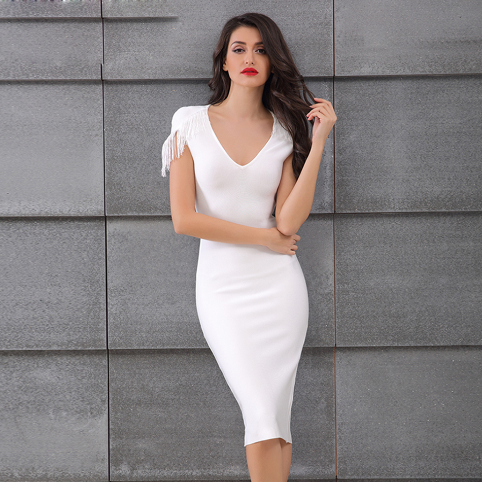 Bodycon mini dress with sleeves