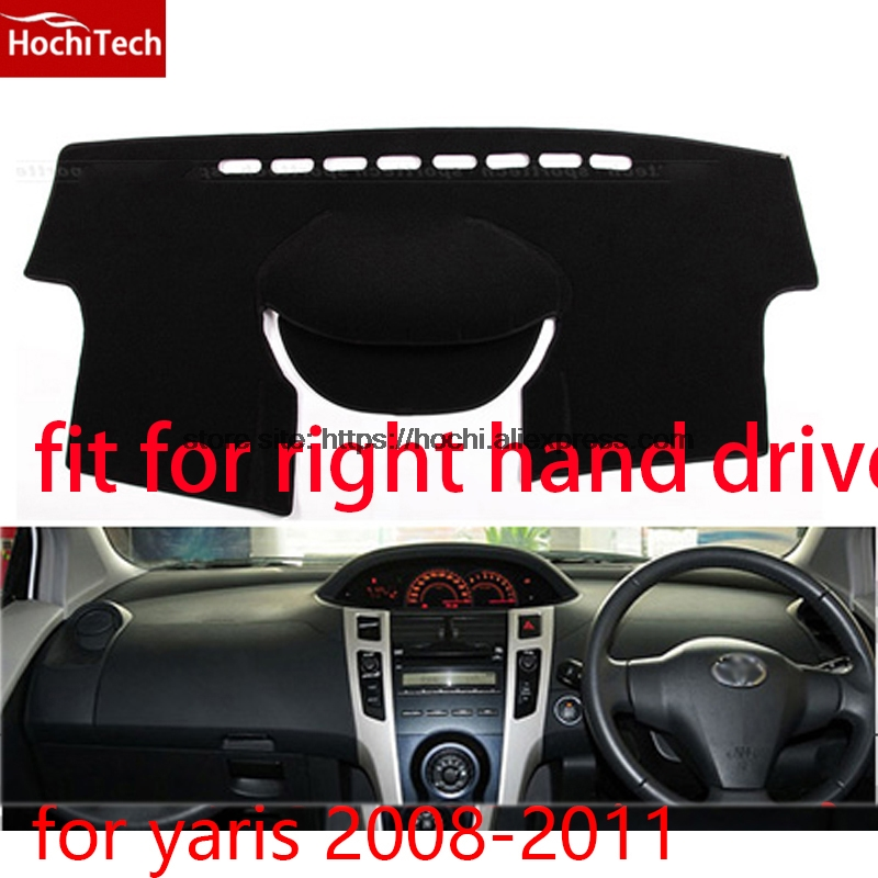 For toyota yaris L right hand drive dashboard mat Protective pad black color car-styling Interior Refit Sticker Mat products for toyota prius 2012 2013 right hand drive dashboard mat protective pad black car styling interior refit sticker mat products