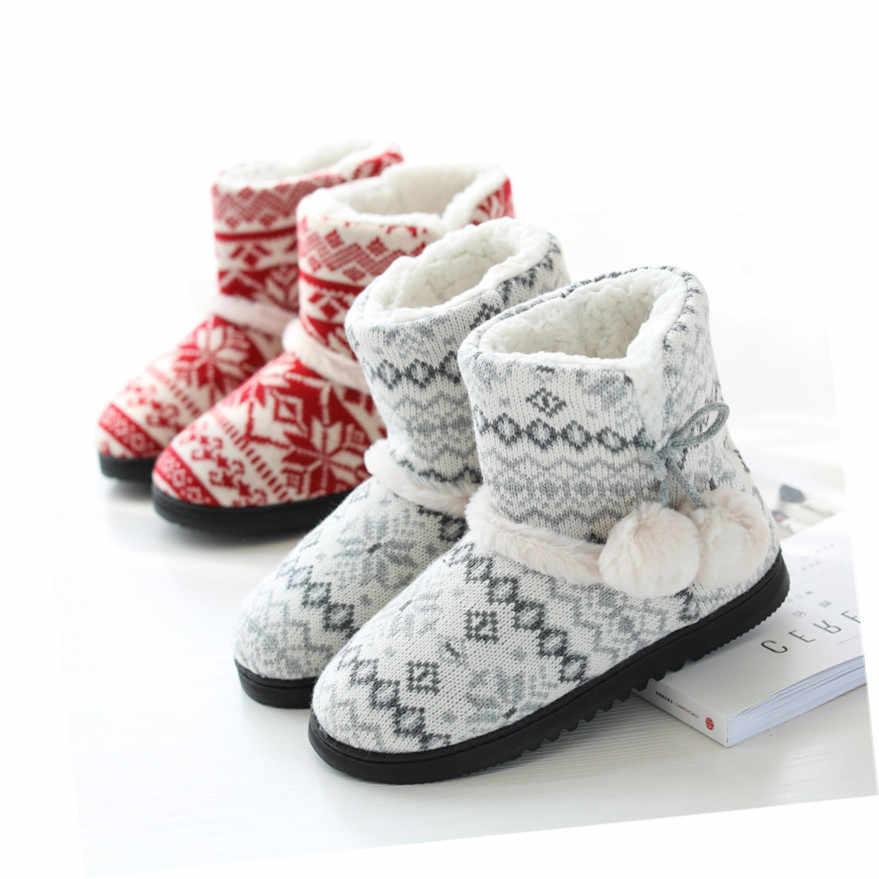 Suihyung 2019 Neue Winter Warme Frauen Indoor Schuhe Kurze Plüsch Stiefeletten Dicke Kaschmir Baumwolle Gepolsterte Schuhe Slip Auf Weibliche botas