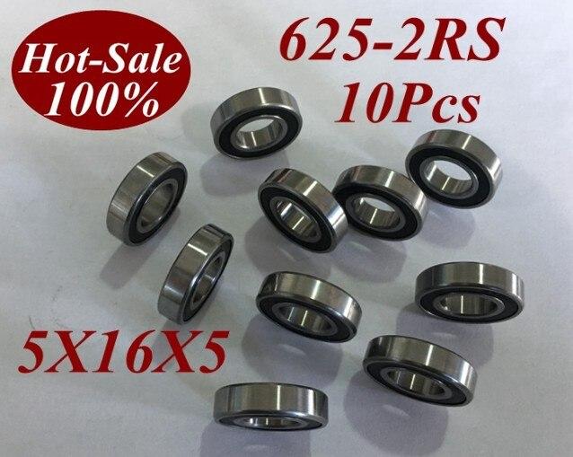 10 Pcs 625 2RS 625RS 625-2RS 625RZ 625-2RZ 5X16X5mm Miniatura Rolamentos de Esferas de Skate Scooter de Skate bola rolamento de rolos