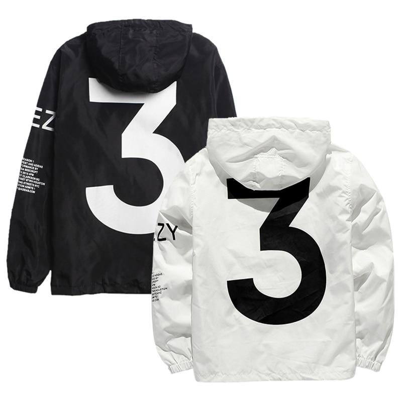 Lamilus Männer der Y-3 Marke Windjacke Hüfte Hop Mit Kapuze Jacke Kleidung Sportswear Männer Mode Dünne Windjacke Jacke Zipper Outwear