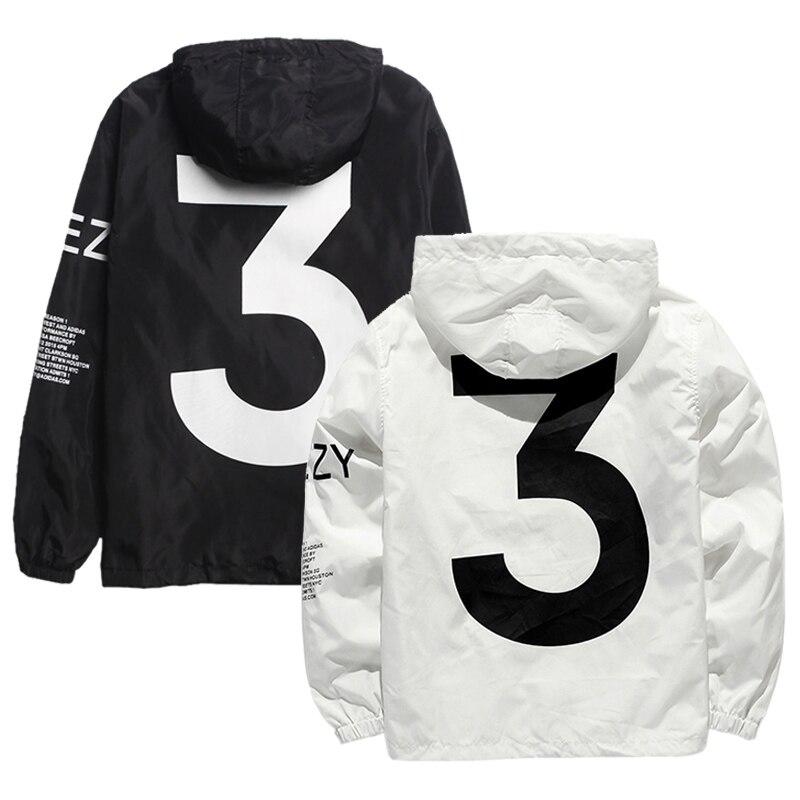 Lamilus hombres Y-3 marca chaqueta Hip Hop chaqueta con capucha ropa deportiva de los hombres de moda delgada chaqueta rompevientos cremallera Outwear