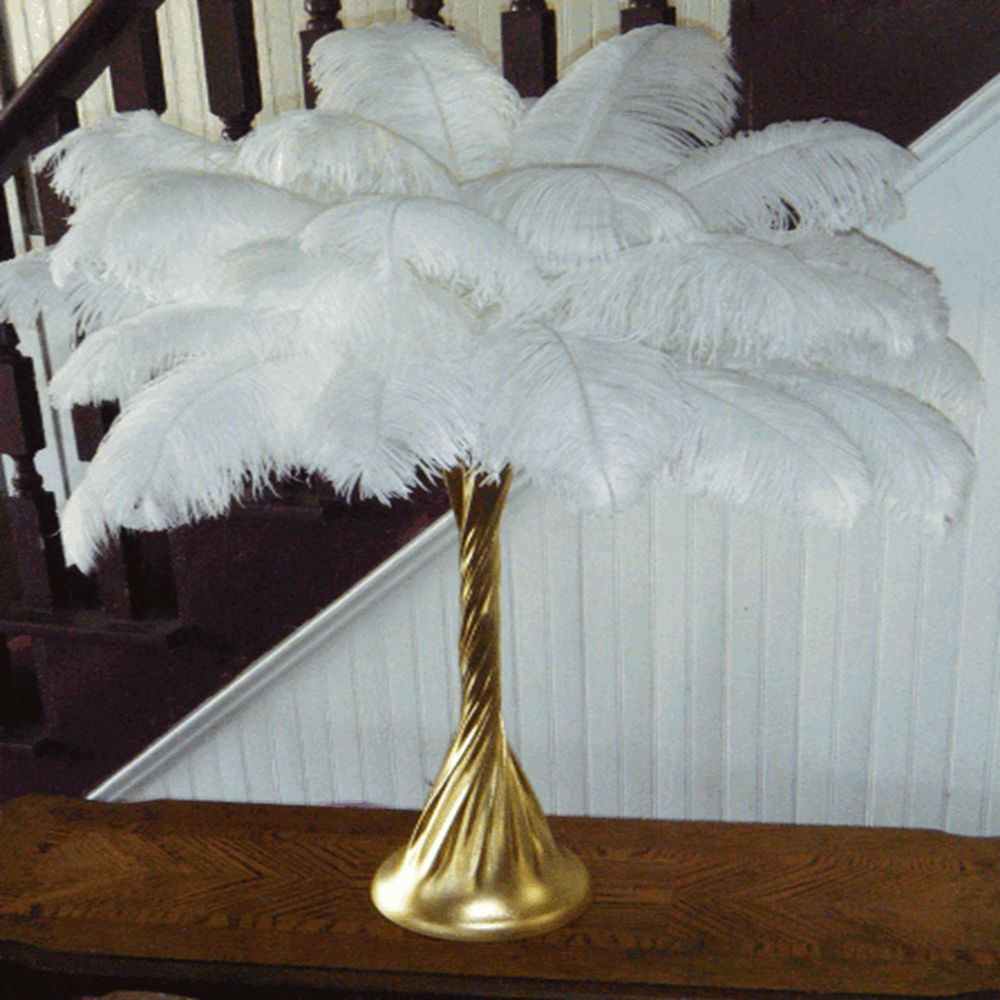 Sowder Ostrich Feather Pet Decoration Wedding Gift White Feather ...
