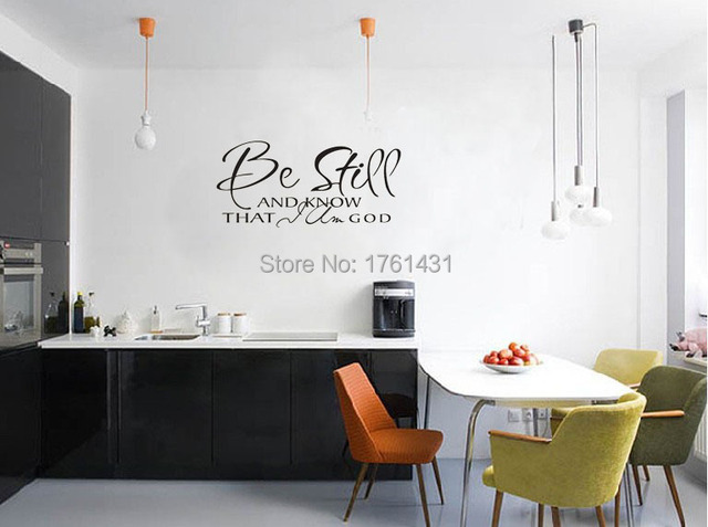 Be Still And Know That I Am God Religious Wall Quote Decal Sticker Living Room Wallstickers