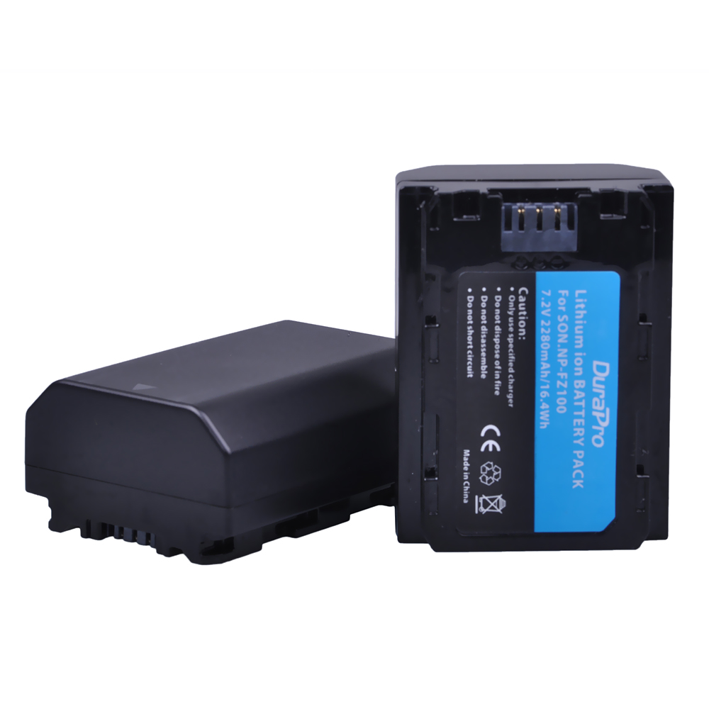 2PC 2280mAH NP-FZ100 NP FZ100 Battery for Sony NP-FZ100, BC-QZ1 Alpha 9, A7RIII, ILCE-7RM3, a9, Sony A9R Sony Alpha 9 s Camera sony alpha a5000lp