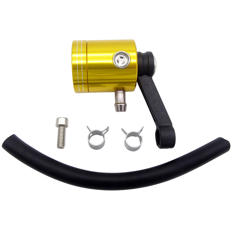 Aluminum CNC Alloy Motorcycle Front Brake Clutch Master Cylinder Fluid Reservoir Tank Oil Cup For Yamaha R6 MT09 Kawasaki Z1000 in Levers Ropes Cables from Automobiles Motorcycles