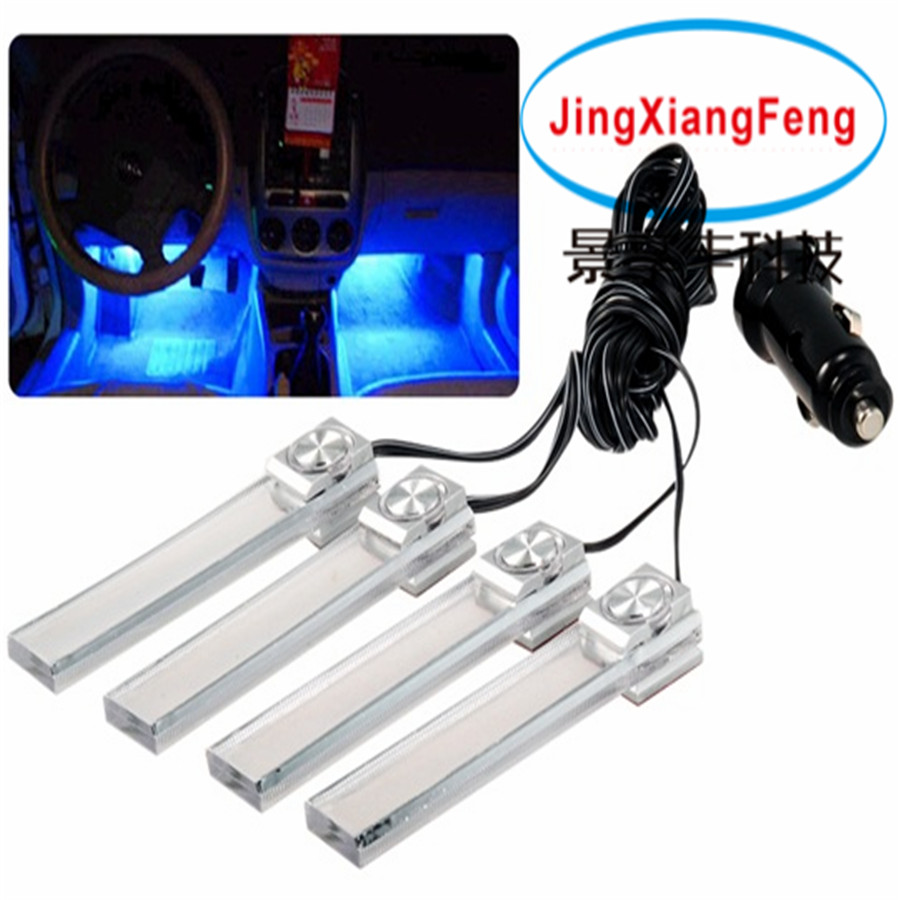 zy 615 car 4 leds 12 v v auto interior led atmosphere atmosphere lights. Black Bedroom Furniture Sets. Home Design Ideas