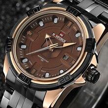 Luxury Brand NAVIFORCE Pantalla Analógica Fecha de Cuarzo de Los Hombres de Acero Completo Impermeable Relojes de Los Hombres Del Ejército Militar Reloj relogio masculino