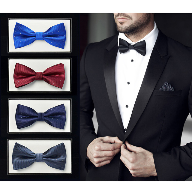 184f8efd0ff0 NEW Fashion Mens Solid Color Bow Ties Wedding Suits Accessories Bowtie  Formal Business Party Tuxedo Necktie