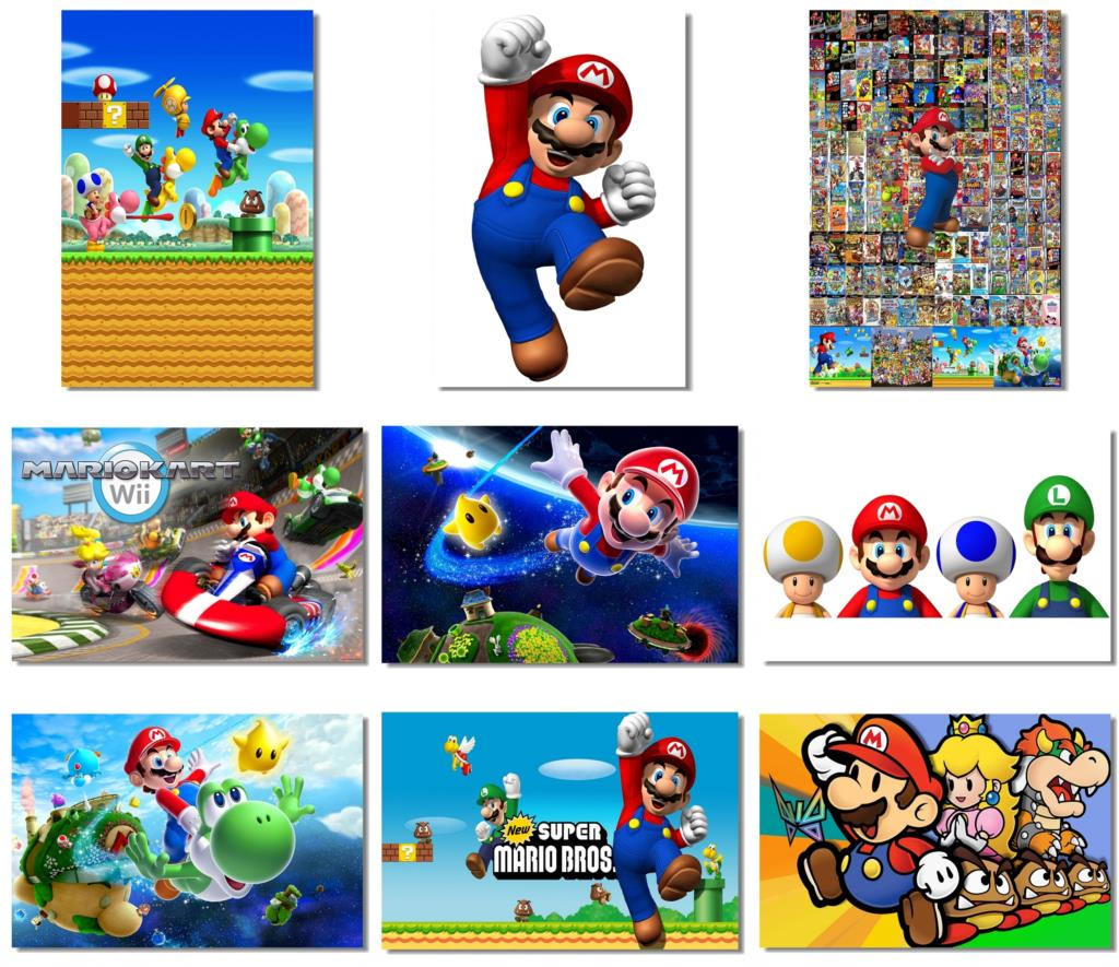 9Pcs X Super Mario Party Galaxy World Kart Bros Game